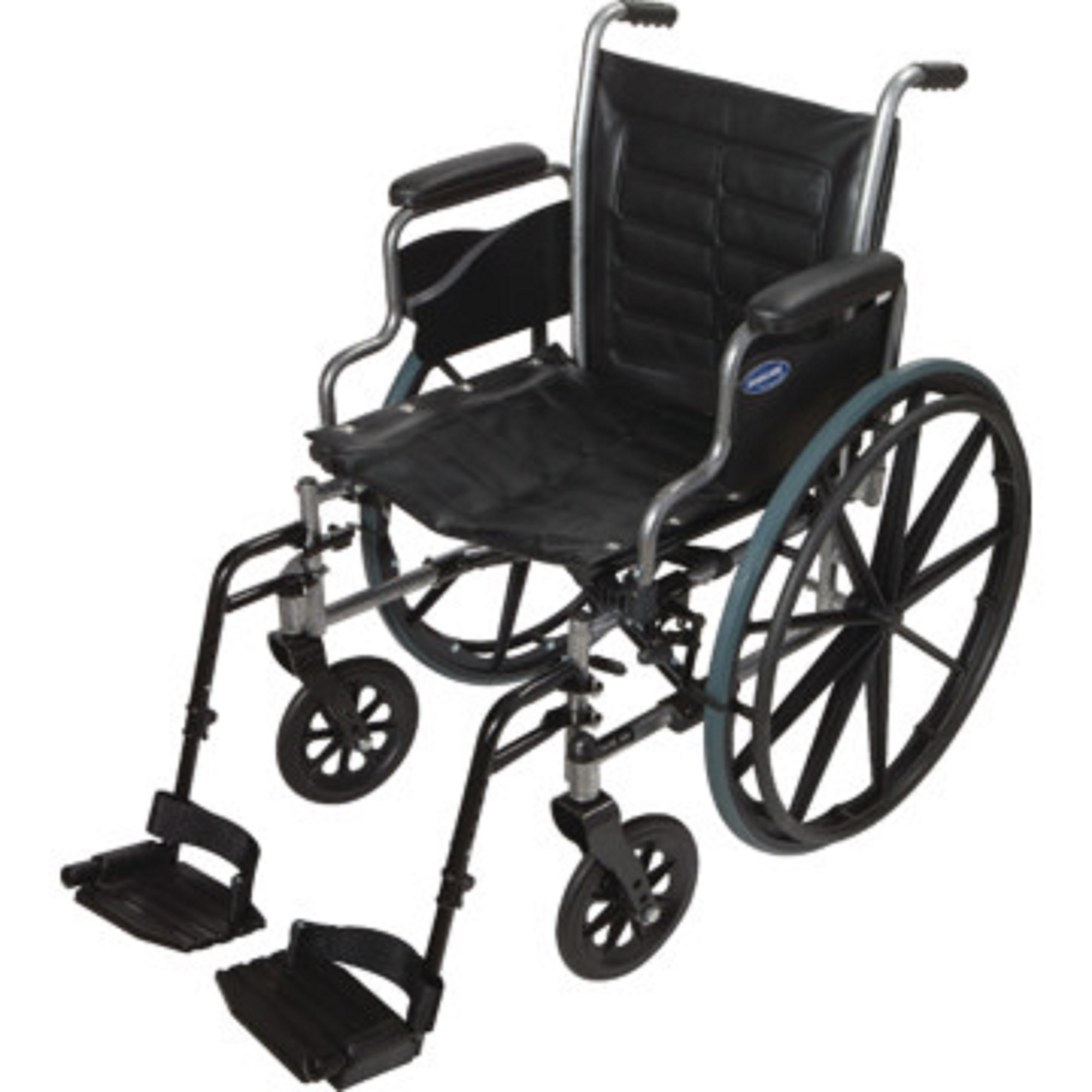 """Invacare - Tracer IV - Manual Wheelchair - Desk-Length Armrest with Swing Away Footrest - 22"""" x 18"""" Seat - Silver Vein"""