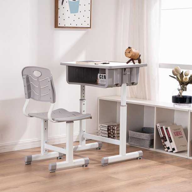 Zimtown Adjustable Lifting Student Table and Chair Set