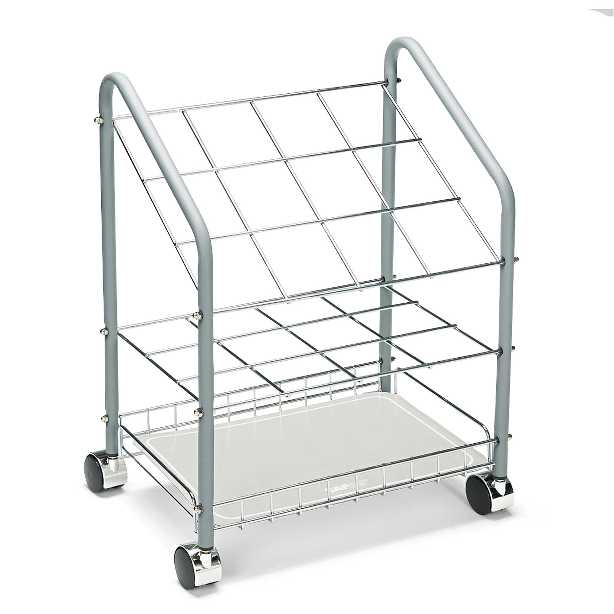 Safco Wire Roll/File, 12 Compartments, 18w x 12-3/4d x 24-1/2h, Gray