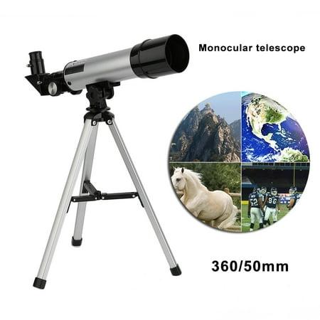 360/50mm Telescopic Monocular Refractive Astronomical Telescope Refractor