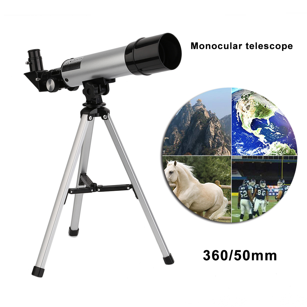 360/50mm Telescopic Zoom HD Outdoor Monocular Space Refractive Astronomical Single Telescope Refractor With Tr
