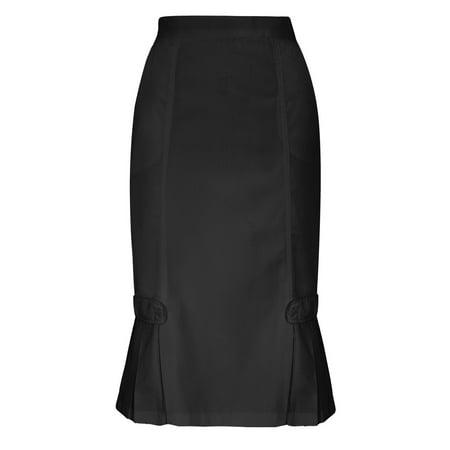 (Adar Universal Tabbed Pleat Panel Skirt - 711 - Pewter - 22)
