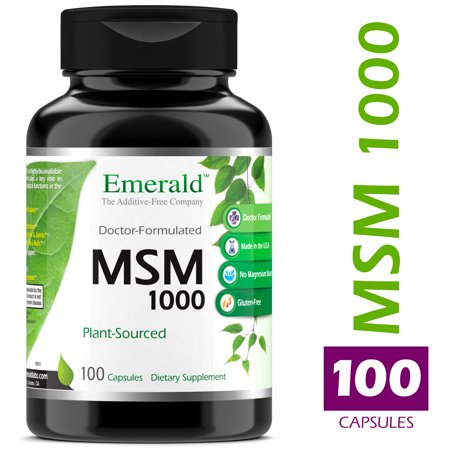 Emerald Laboratories (Ultra Botanicals) - MSM 1,000 mg - Joint Support for Aches & Pains, Anti-Inflammatory, Stress Relief, Supports Digestive System, & Allergy Relief - 100