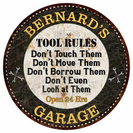 BERNARD'S Garage Rules 14