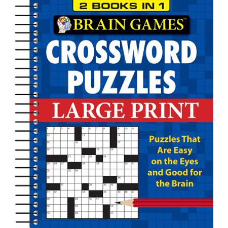 Brain Games Crossword Puzzles Large Print ()
