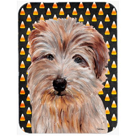 Norfolk Terrier Candy Corn Halloween Mouse Pad, Hot Pad or Trivet SC9664MP