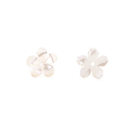 Flower Trochus Shell Charms 10x2mm Sold per pkg of 2pcs