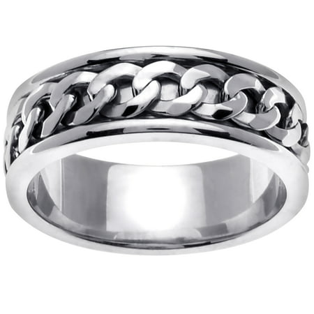 18K White Gold Infinity Knot Celtic Comfort Fit Women's Wedding Band (7mm)