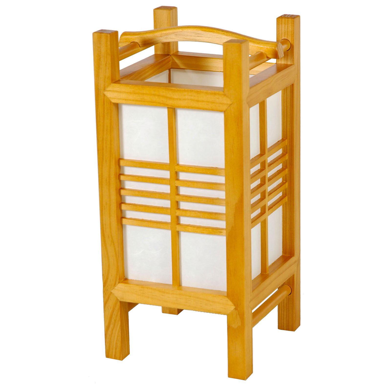 Oriental Furniture Akida Lamp - J151 - Honey