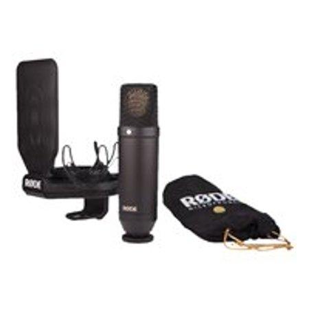 RØDE NT1 - Microphone - matte black - with SMR shock mount