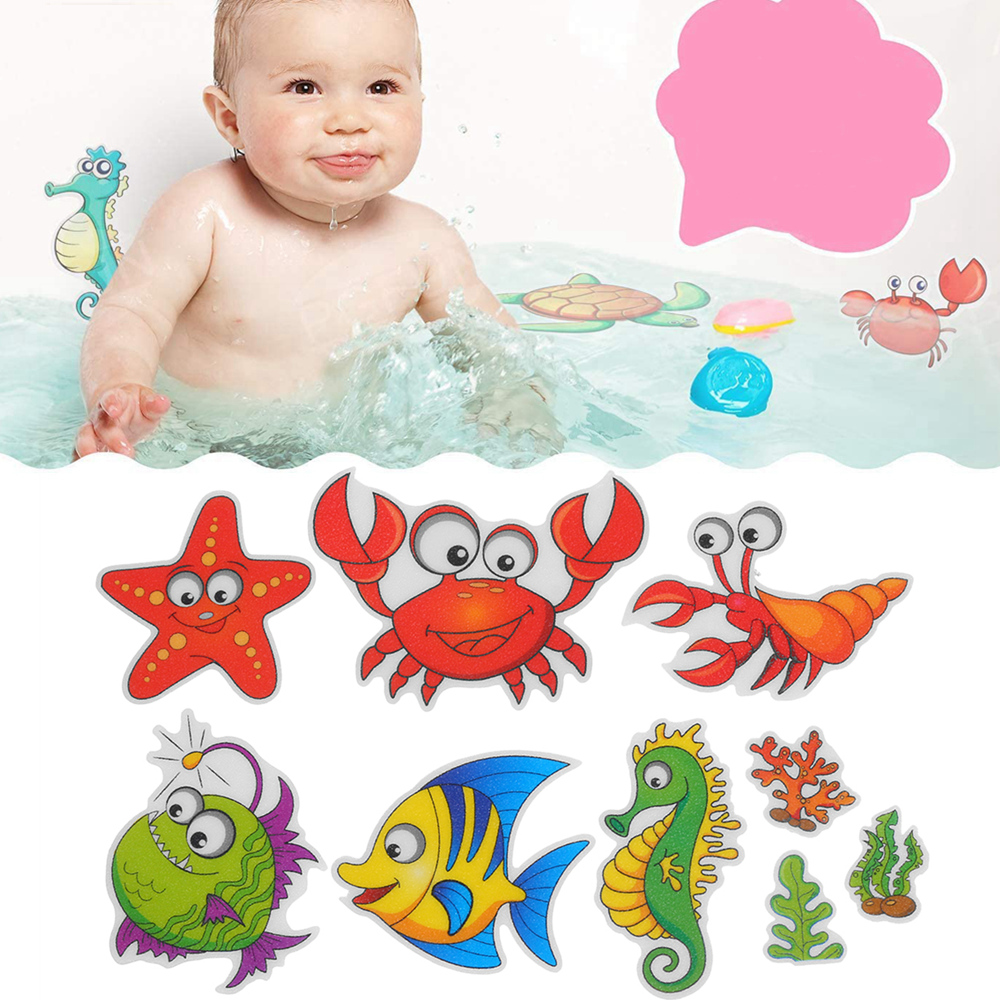 Bathtub Non-Slip Stickers PVC Fish Shell Style Kids /& Babies Shower Appliques