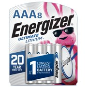 Energizer Ultimate Lithium AAA Batteries, Triple A Battery (8 Pack)