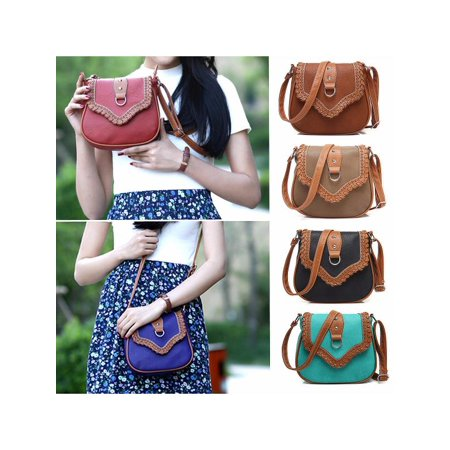 4176efdf1c29 Lady Women Hollow Retro Shoulder Bag PU Leather Satchel Cross Body ...