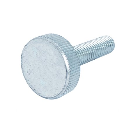 M10x40mm Thread Carbon Steel Knurled Round Head Thumb Screw Silver Blue - image 2 of 2