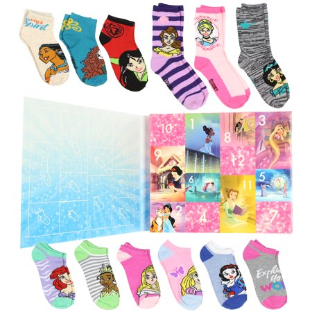 Disney Princess Girls 12 Days of Socks Holiday Advent Calendar (6/8)