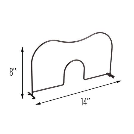 Honey Can Do Steel Wire Storage Shelf Divider, Black (Pack of 2)