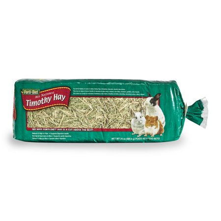 (2 Pack) Forti-Diet Timothy Hay Small Animal Food and Treat, 24 oz.