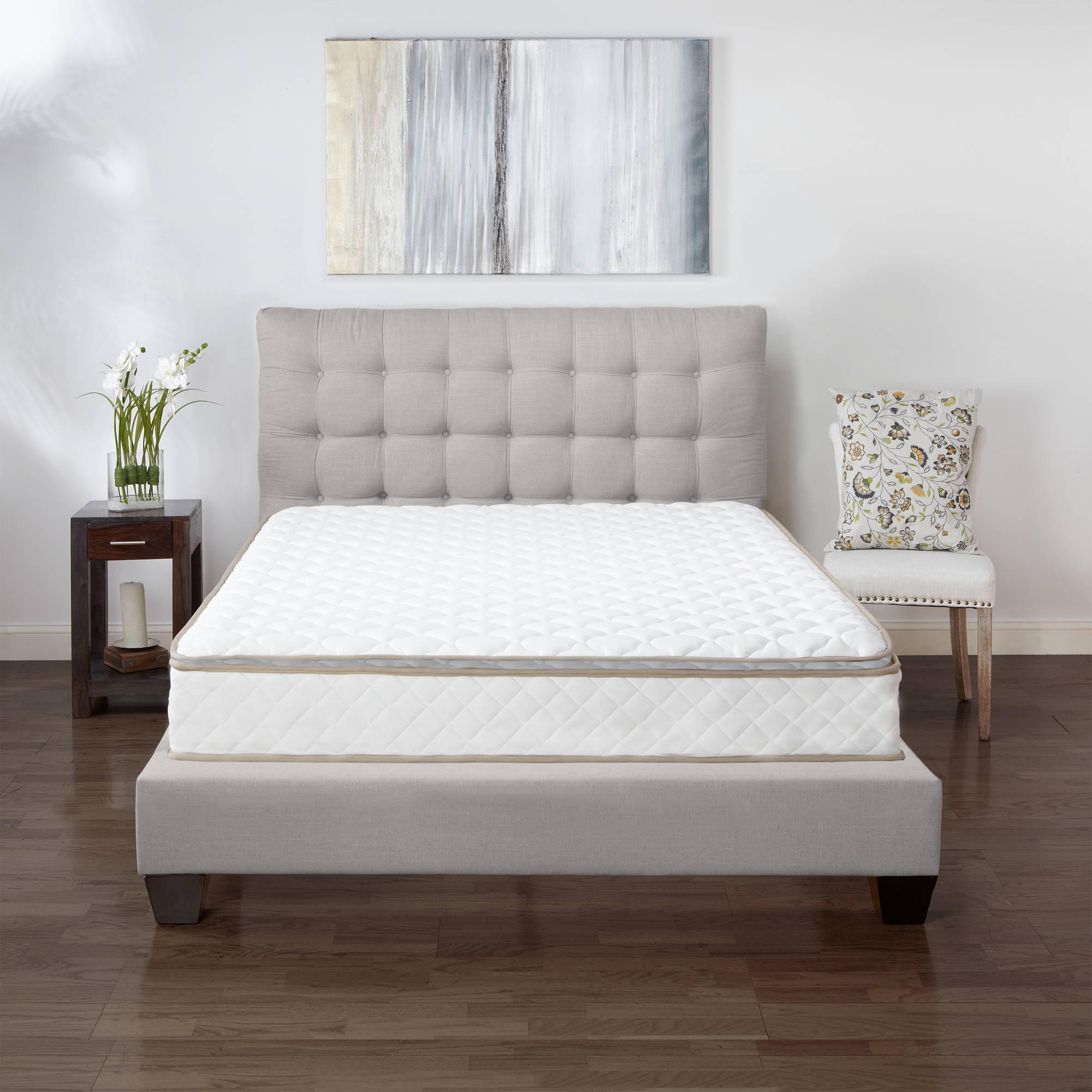 modern sleep pillowtop innerspring inch mattress multiple  - modern sleep pillowtop innerspring inch mattress multiple sizes walmartcom