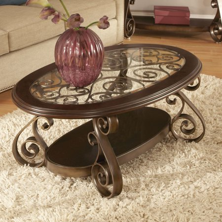 Standard furniture bombay oval coffee table - Standard coffee table height ...