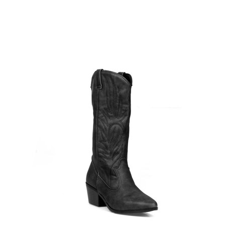 - Shoelala Pull Women's Western Boots in Black
