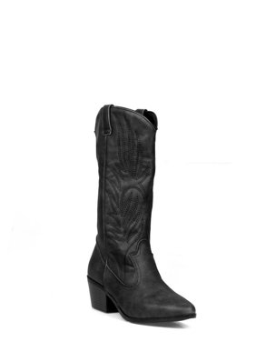 ceeec4ca3e7 Product Image Shoelala Pull Women s Western Boots in Black