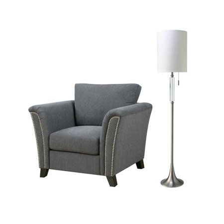 Enjoyable Furniture Of America Shirley 2 Piece Chair And Lamp Set Theyellowbook Wood Chair Design Ideas Theyellowbookinfo