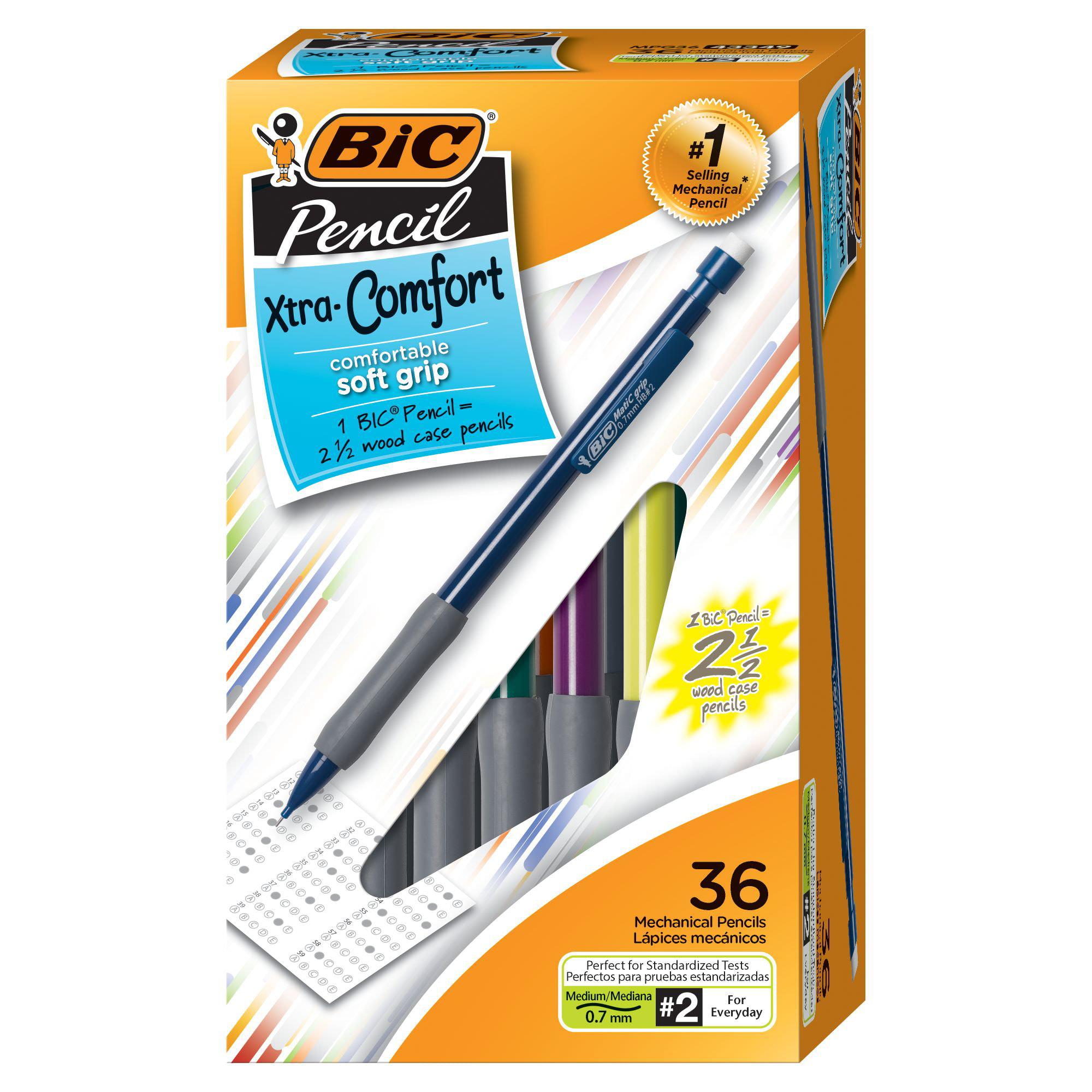 BIC Xtra Comfort Mechanical Pencil, Medium Point (0.7mm), 36 Count