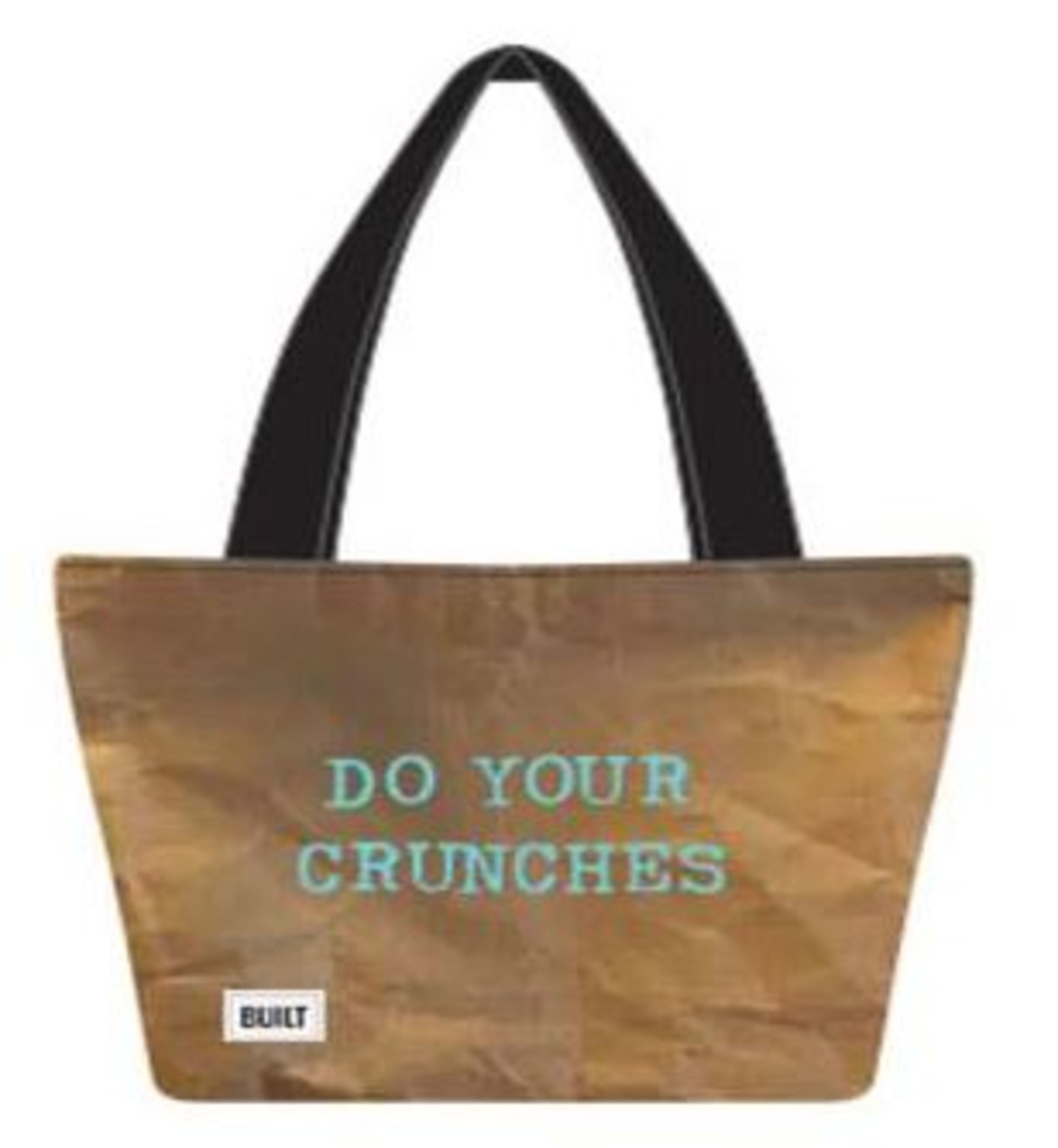Built NY Brown Healthy Print Insulated Reusable Lunch Bag