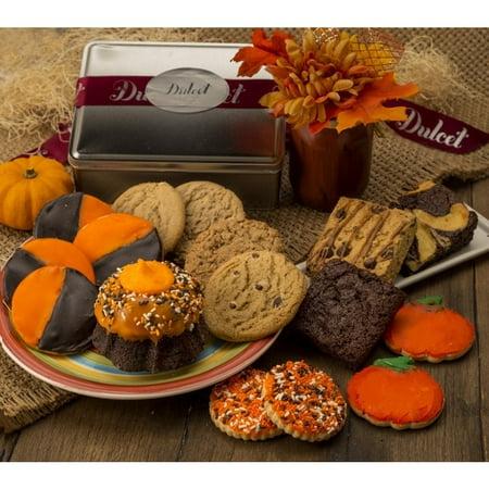 Dulcet Gift Baskets Dulcet's Assortment of Halloween Gourmet Desserts - Gourmet Halloween Caramel Apples