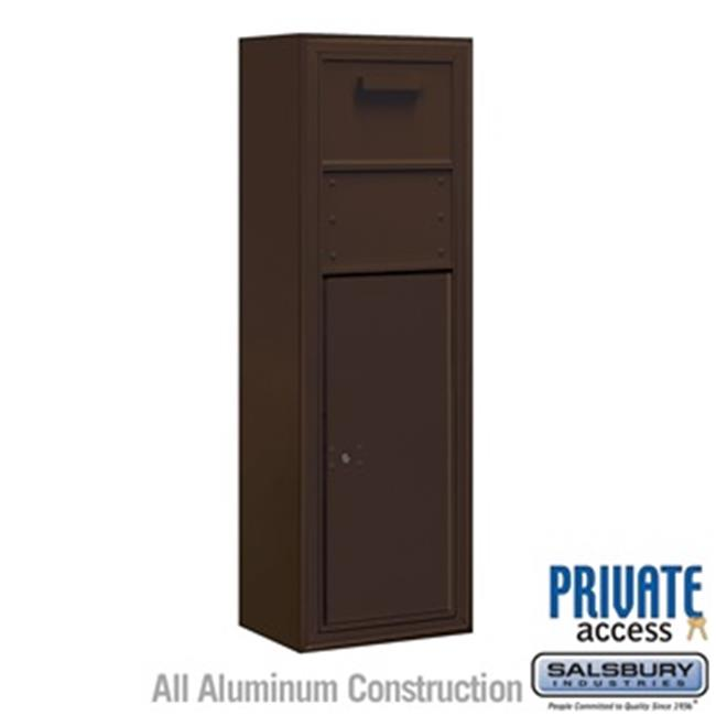 Salsbury 3811S-1CZF Single Column Surface Mounted 4C Horizontal Collection Box, Bronze - Front Access