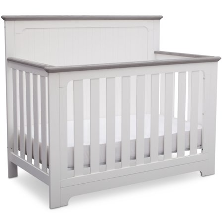 Delta Children Providence 4 In 1 Convertible Crib Bianca White With Rustic Haze