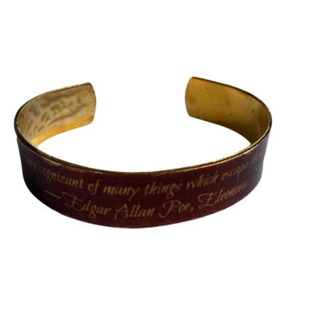 Those Who Dream By Day Are Cognizant Of Many Things    Brass Cuff Bracelet 1