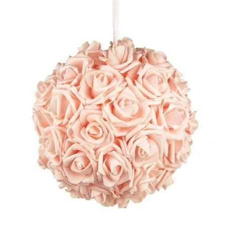 Soft Touch Flower Kissing Balls Wedding Centerpiece, 10-inch - Kissing Ball