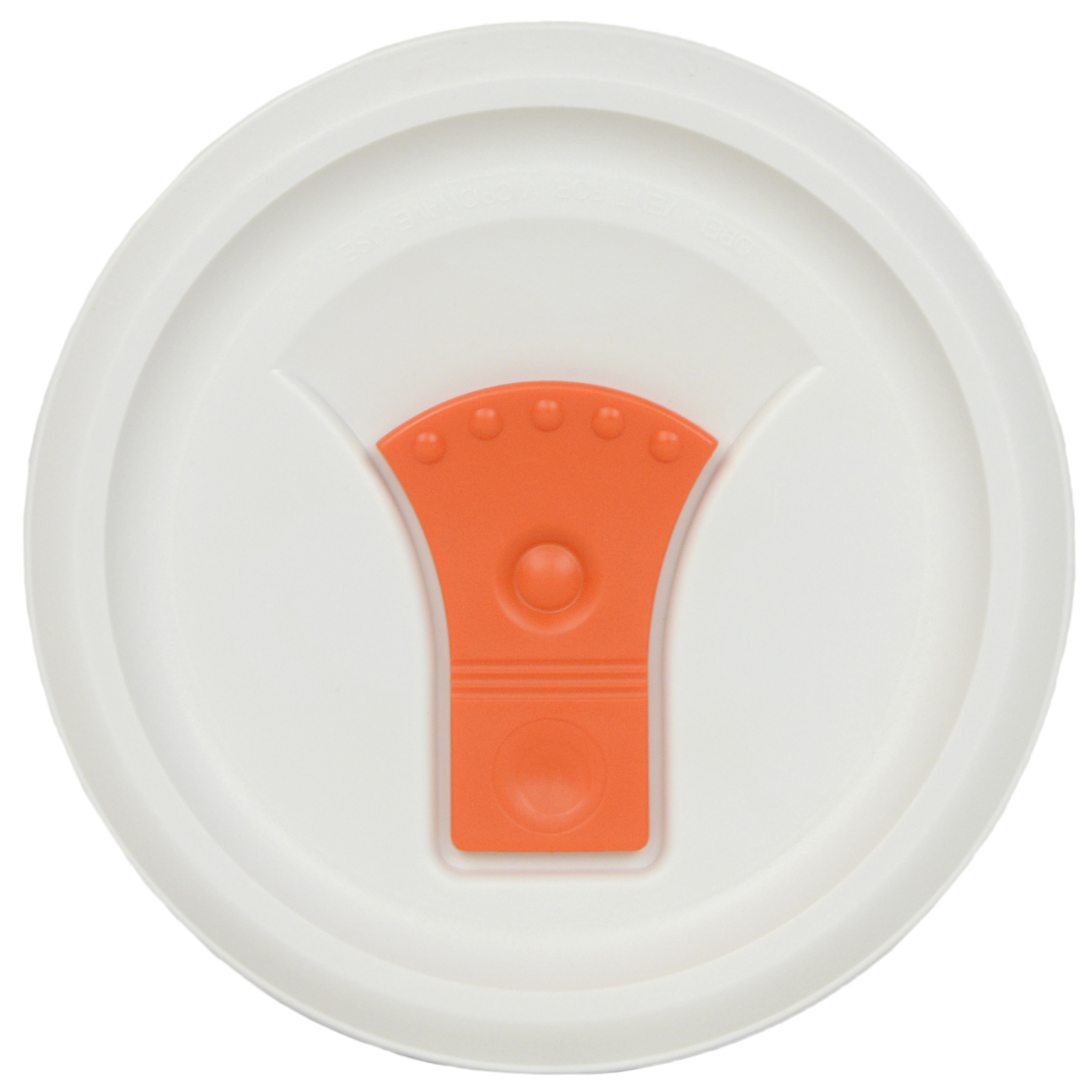 Corningware Replacement Lid FM-22-VPC 20oz Orange and White Round Cover for Corningware F-22 or FM-22 Pop-Ins Soup Mug (Sold Separately)