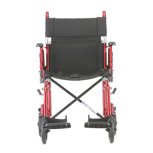 """NOVA Medical Products 19"""" Transport/Wheelchair with Detachable Arms"""