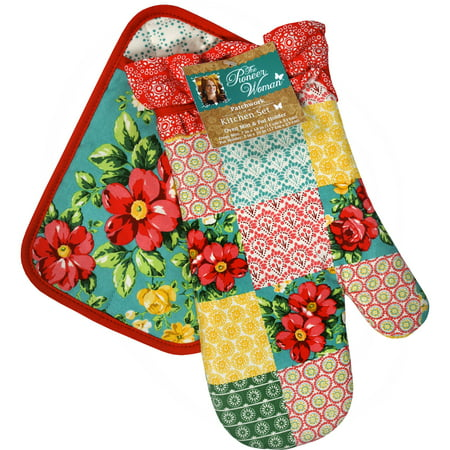 The Pioneer Woman Patchwork Oven Mitt & Pot Holder Set, 2 Piece
