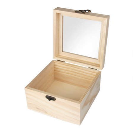 Storage Box Wooden With Lid Golden Lock Postcard Organizer Handmade Jewelry Case - Card Box With Lock