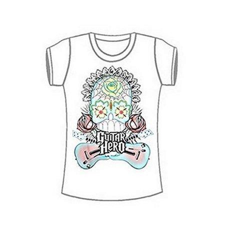 Guitar Hero Skeleton Flowers Video Game White Juniors - Guitar Skeleton