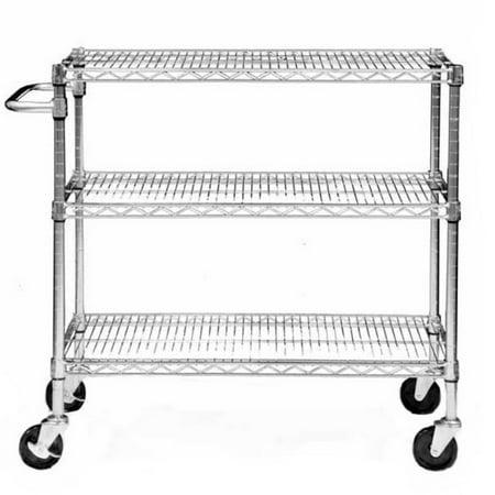TRINITY EcoStorage; 3-Tier NSF Chrome Cart