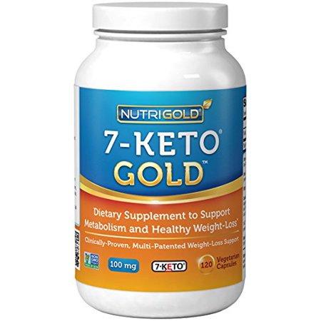 Nutrigold 7-Keto 100mg, 120 capsules végétariennes # 1 dans le ventre-Blasting Perte de poids