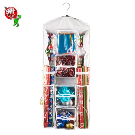 Gift Bag Organizer (1520 Elf Stor | Double Sided | Hanging Gift Wrap and Bag Organizer | Stores it)