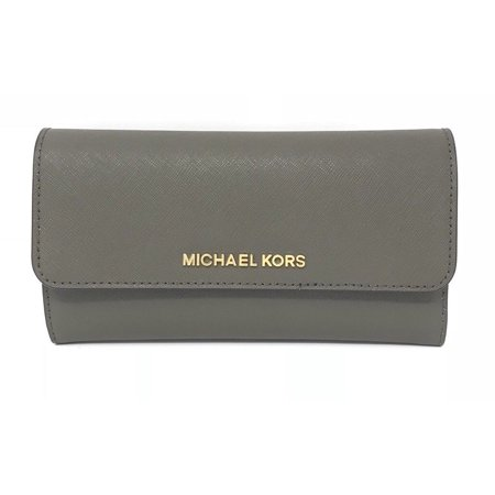 Print Large Wallet (Michael Kors Jet Set Travel Palm Leaf Print Large Trifold Wallet In)