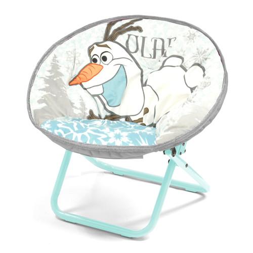 Idea Nuova Character Toddler Kids Saucer Chair in Olaf