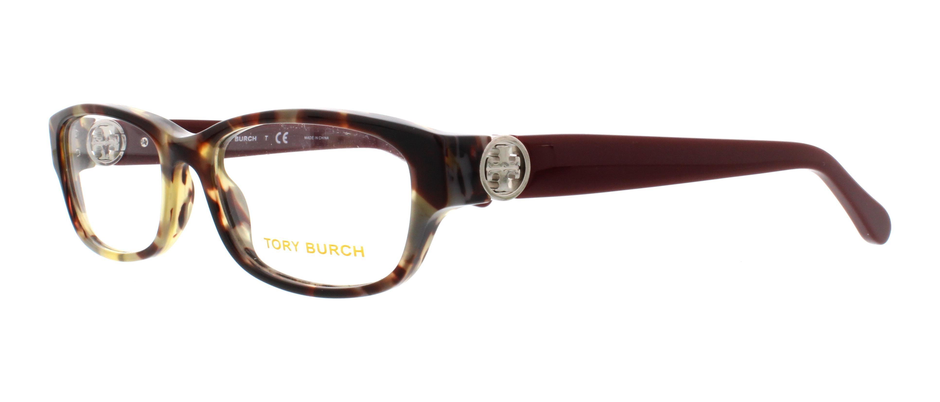 TORY BURCH Eyeglasses TY 2055 1476 Porchini Tortoise/Bordeaux 51MM ...