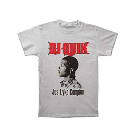 Dj Quik Men's  Jus Lyke Compton T-shirt Grey (Quik Tee)
