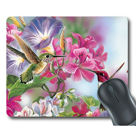 GCKG Hummingbird Mouse Pad Personalized Unique Rectangle Gaming Mousepad 9.84