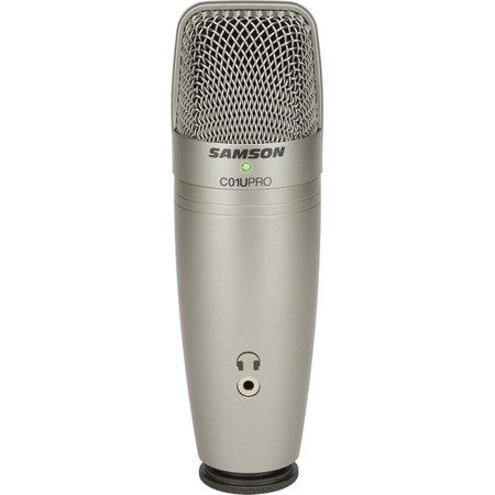 Samson C01U PRO Microphone - Mono - 20 Hz to 20 kHz - Wired - Condenser - Shock Mount - USB,