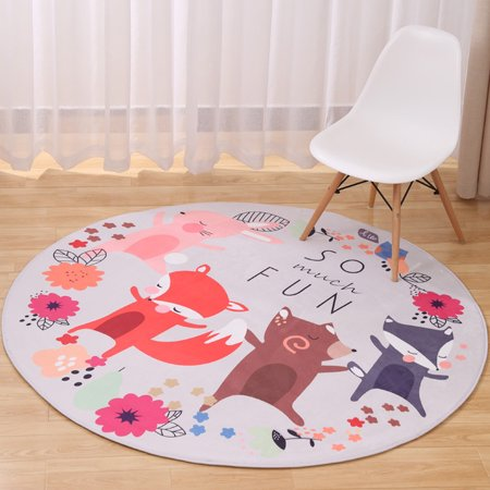 Deal of the Day - 31.5'' Round Area Rugs Soft Anti-slip Carpets Floor Mat Kids Children Room Livingroom Home Decor Deal of the Day