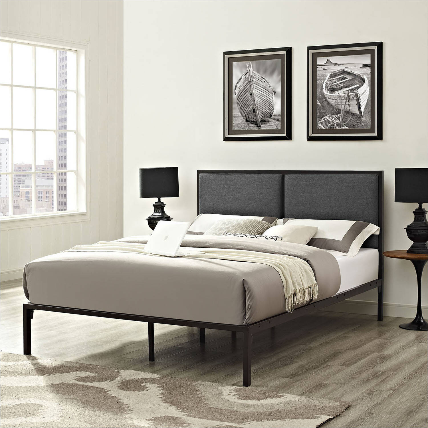 Modway Della Queen Upholstered Platform Bed, Multiple Colors