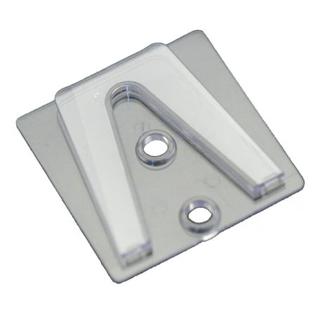 Holiday Lighting Outlet Parapet Clip, Flat Surface Clip to Be Used with Shingle Tab for Christmas Lights, Glue or Screw to Surface, Pack of 100 (Halloween Tab)